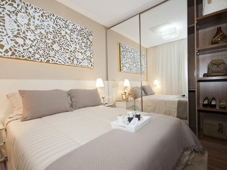 decoracao de apartamentos pequenos quarto casal:Quarto De Casal Pequeno