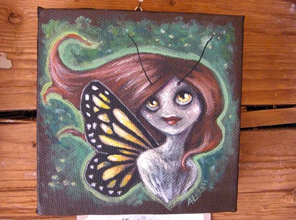 The finished canvas pixie no.1