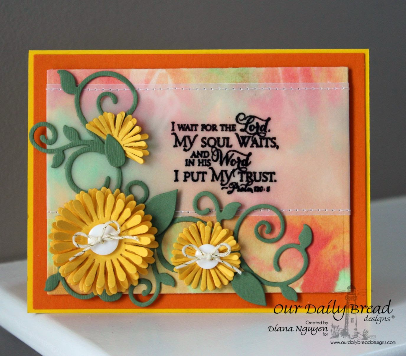 ODBD, Our Daily Bread Designs, Scripture Collection 9, Aster Dies, Fancy Foliage Dies, Designed by Diana Nguyen