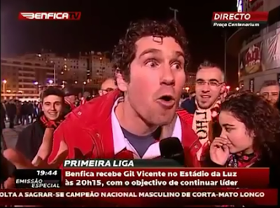 Adepto possuído do Benfica desafia McNamara