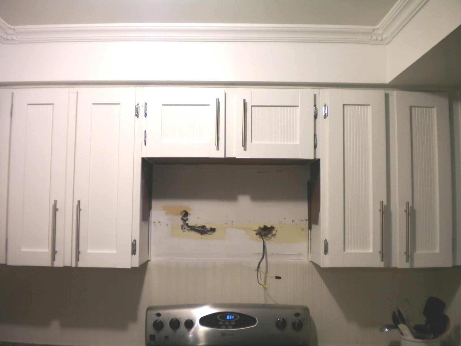 Kitchen Cabinet For Microwave Broadview Heights Kitchen Progress Retrofit A Cabinet For A Microwave