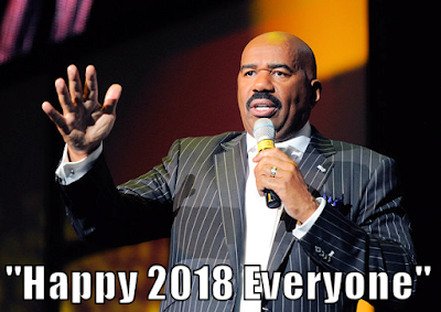 Steve Harvey wishes everyone a Happy 2018