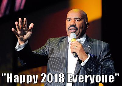 Steve Harvey wishes everyone a Happy 2018