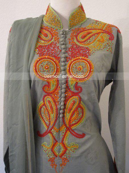 A Fashion Club Pakistani Embroidered Salwar Kameez