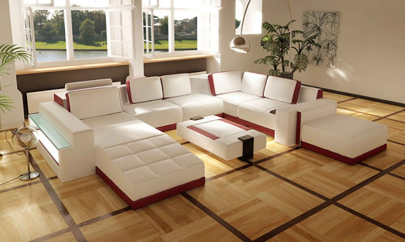 Leather Living Room Sofa Sets