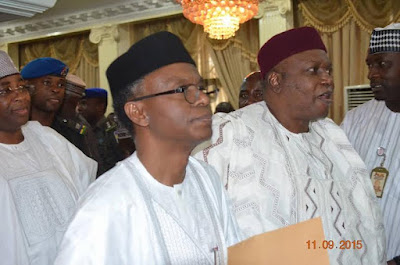 PHOTO OF El Rufai at the  Northern states of Nigeria governors meeting