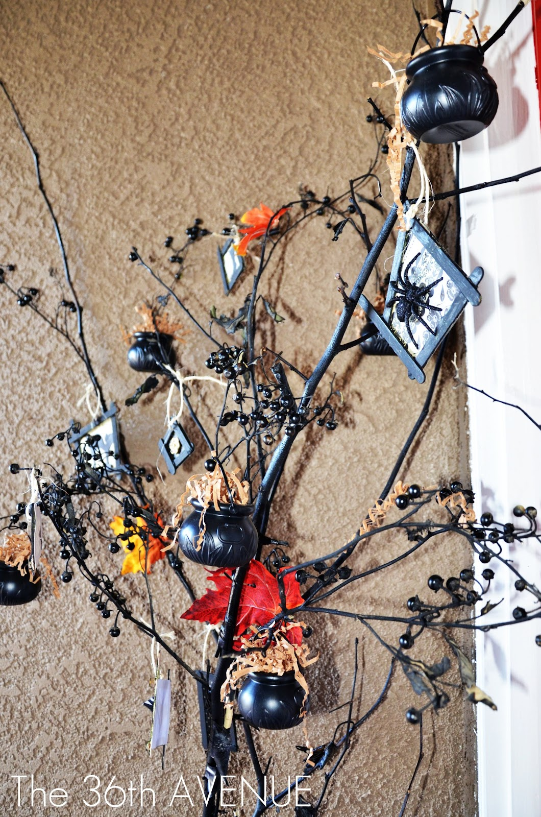 halloween tree and ornament tutorial the 36th avenue - Halloween Tree Ornaments