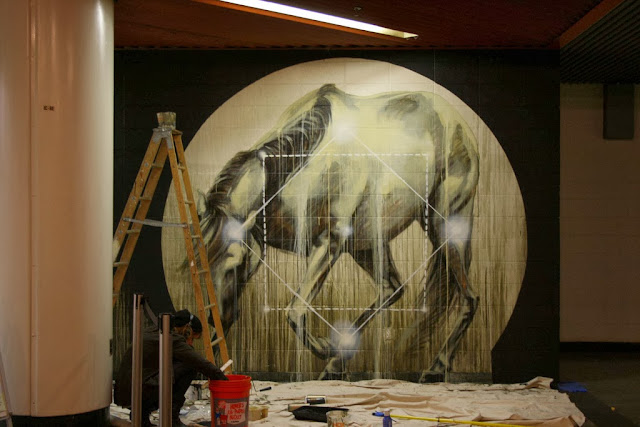 New Indoor Piece By South African Artist Faith47 For The Aqueduct Murals in Queens. 3