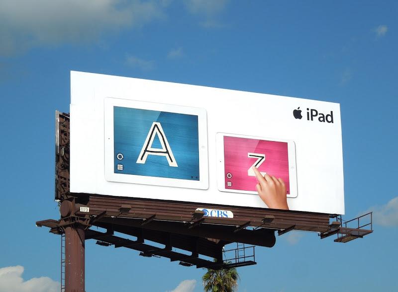 Apple iPad mini A Z billboard