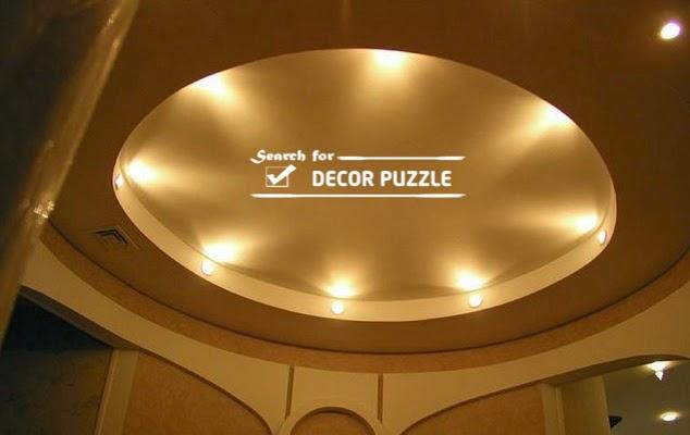round false ceiling designs for hall, POP ceiling designs