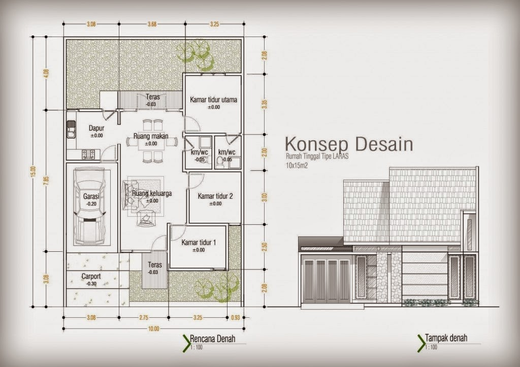 Desain Rumah Minimalis 10 X 15