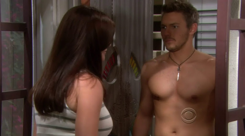 Scott Clifton Shirtless in the Bold and the Beautiful 20120807