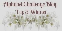 Yay! I made Top 3 at the Alphabet Challenge 14th March 2014