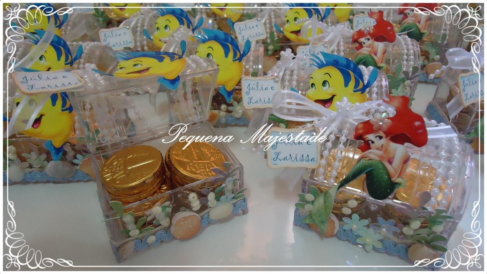Pequena majestade festa pequena sereia ariel - Peceras pequenas decoradas ...