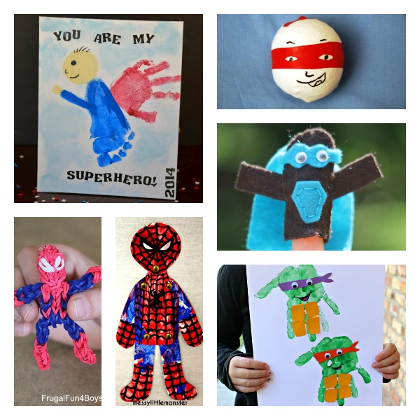 Superhero Arts And Crafts For Kids