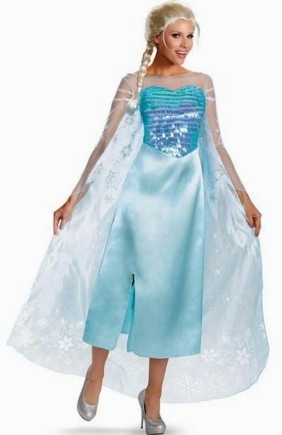 Frozen - Elsa Deluxe Adult Sexy Halloween Costumes