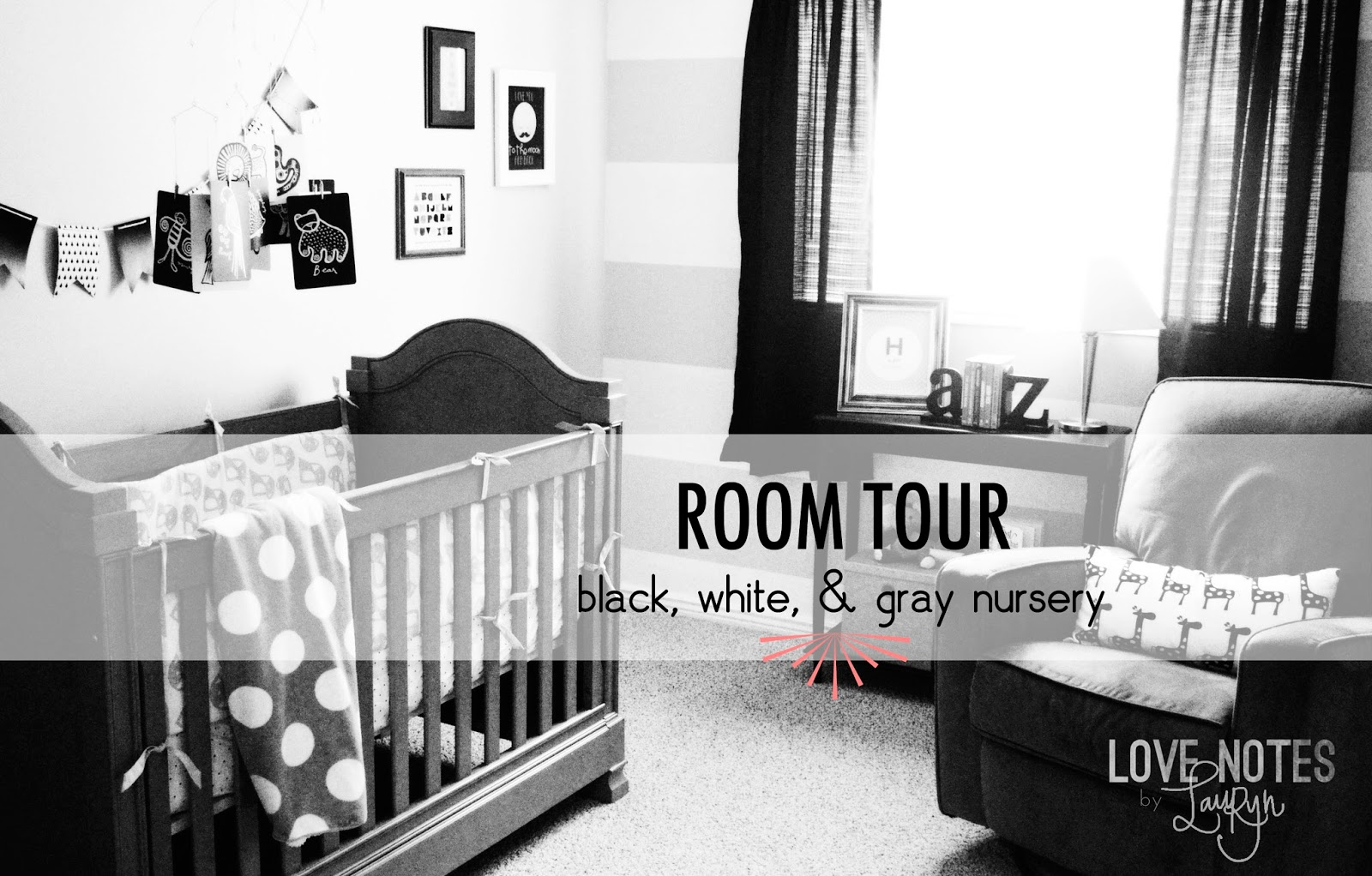 love notes by lauryn black white and gray nursery. Black Bedroom Furniture Sets. Home Design Ideas