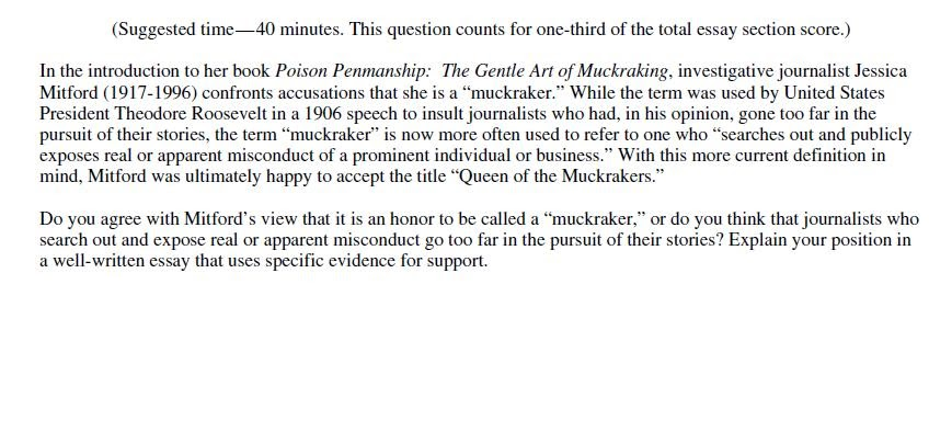 muckraker essay Download thesis statement on muckrakers in our database or order an original thesis paper that will be written by one of our staff writers and delivered according to.