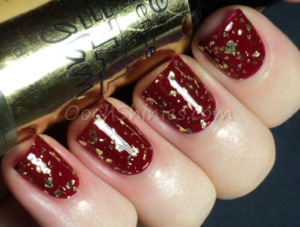 Catrice Brocade Red with Essence Metal Glam Gold Topper Steel-ing The Scene