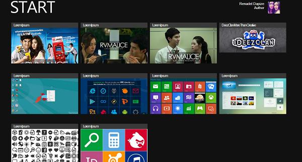 Windows 8 UI blogger template