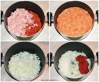 preparare compozitie umplutura ardei umpluti, retete culinare, cum se face umplutura pentru ardei umpluti, retete de mancare, retete cu porc, preparate din porc, retete de mancare cu carne de porc,