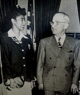 "Audrey ""Mickey"" Patterson, President Harry S. Truman The White House 1948"