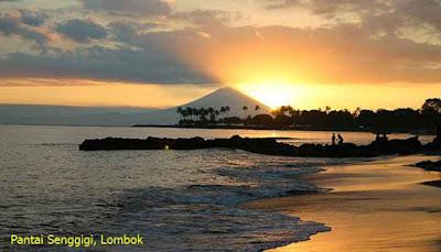 Sunset Pantai Senggigi, Lombok