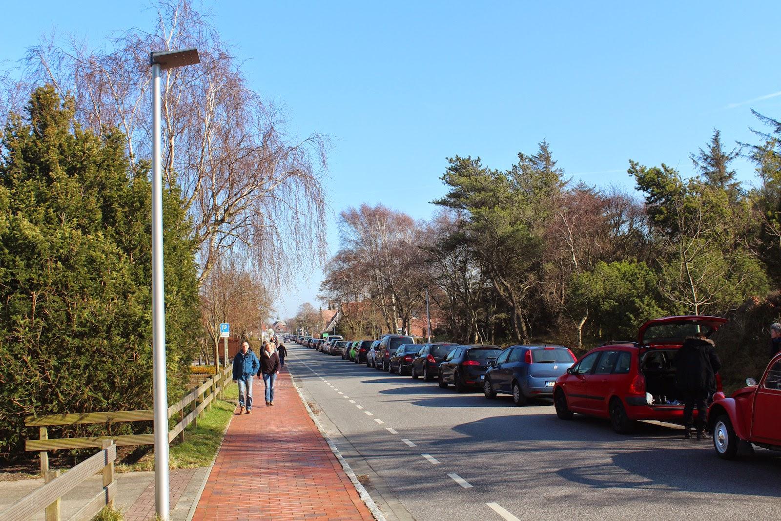 Frühlingspaziergang St. Peter-Ording, Badallee