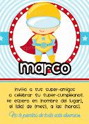 Super Invitaciones para niños! inv qmpl supermark ama