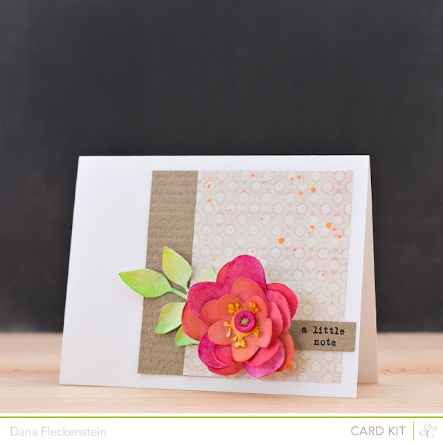Handmade Watercolor Flower Card by @pixnglue using Studio Calico's Valley High Kits