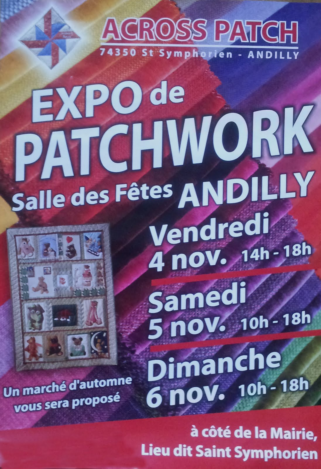 Exposition Patchwork à Andilly