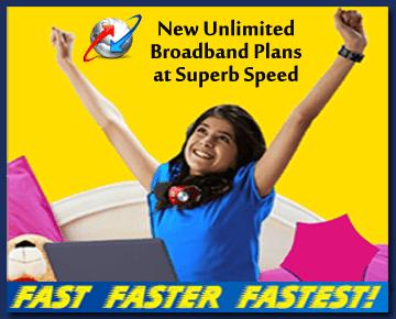 BSNL Gujarat Broadband Plans Unlimited 4Mbps Internet