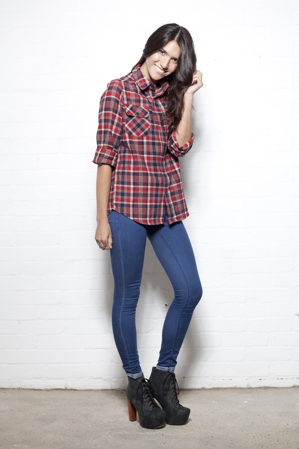 c9b299ed043fd Below are how we would wear our new Pop flannel checked shirt (available  soon on www.loveclothing.com)