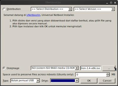 Instal UNetbootin di Ubuntu