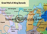Map of Great Wall in Ming Dynasty