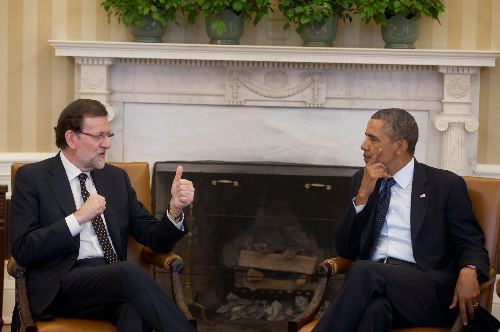 Encuentro de Mariano Rajoy con Barack Obama enero de 2014