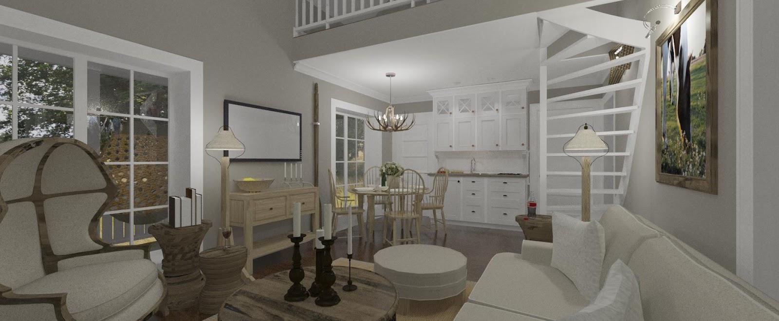 Den Vita Drömgården: Gästhus i New England stil på 48 kvadratmeter