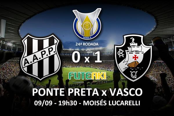 Veja o resumo da partida com o gol e os melhores momentos de Ponte Preta 0x1 Vasco pela 24ª rodada do Brasileirão 2015.
