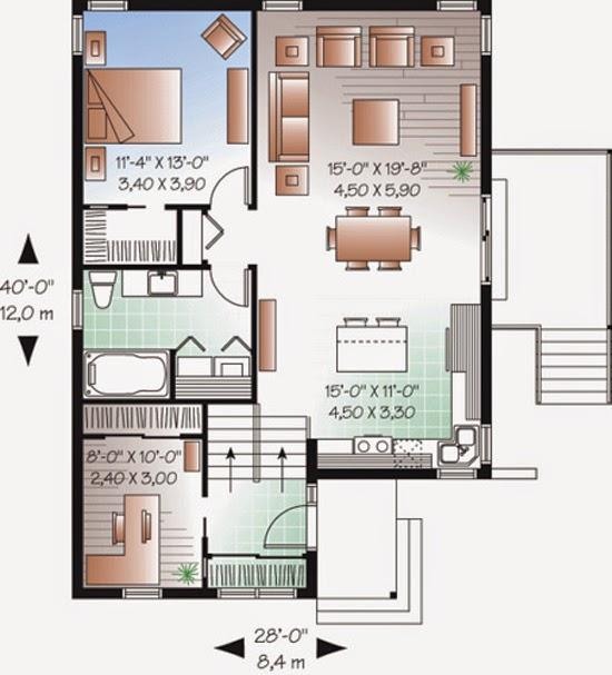 ... luas rumah 60m2 denah 2 minimalis lantai tanah 2 UNIK 12 RUMAH Lantai 2015 X 8