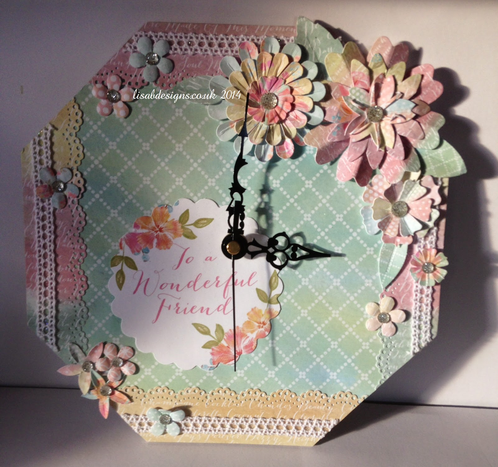 Welcome To Lisa B Designs Craftwork Cards Clock