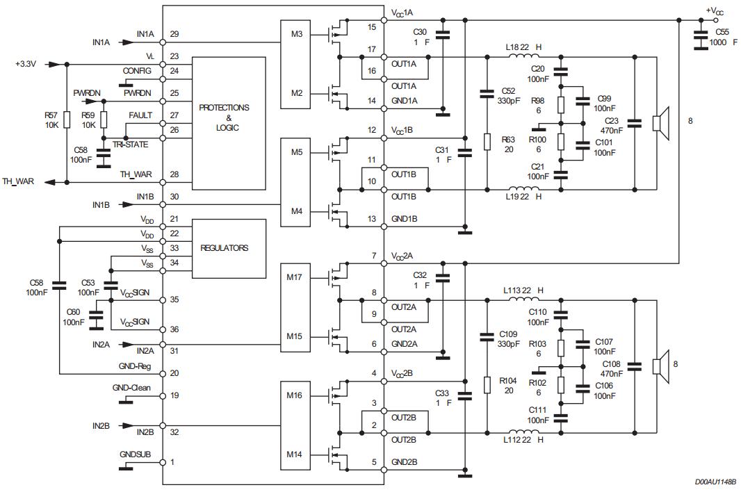 2 x 200w or 400w btl power amplifier