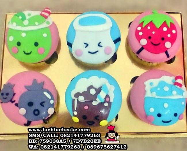Cupcake Super Cute 2D Tema Makanan Daerah Surabaya - Sidoarjo
