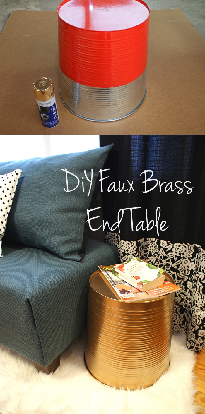 DIY Faux Brass End Table