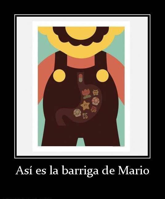 Así es la barriga de Mario