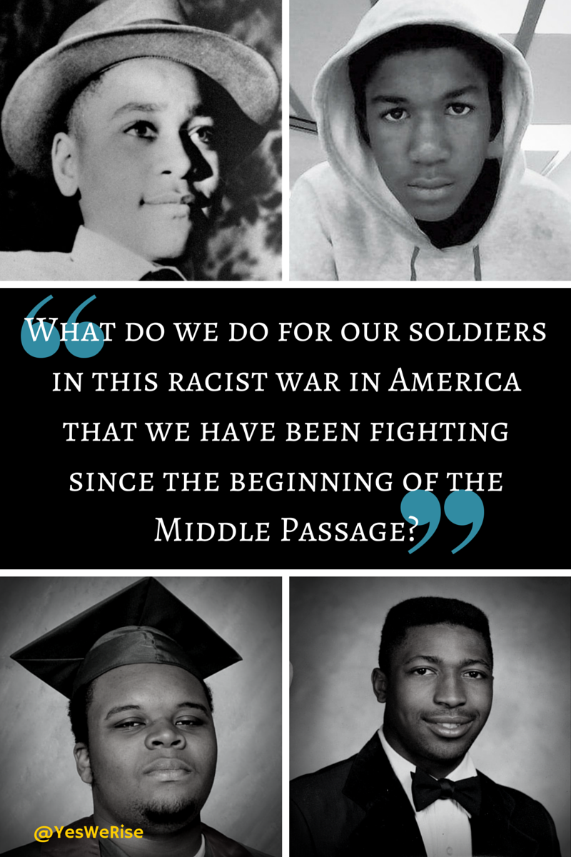 Black Men and Depression/PTSD | Yes, We Rise Emmett Till, Trayvon Martin, Michael Brown Jr., Eric Garner