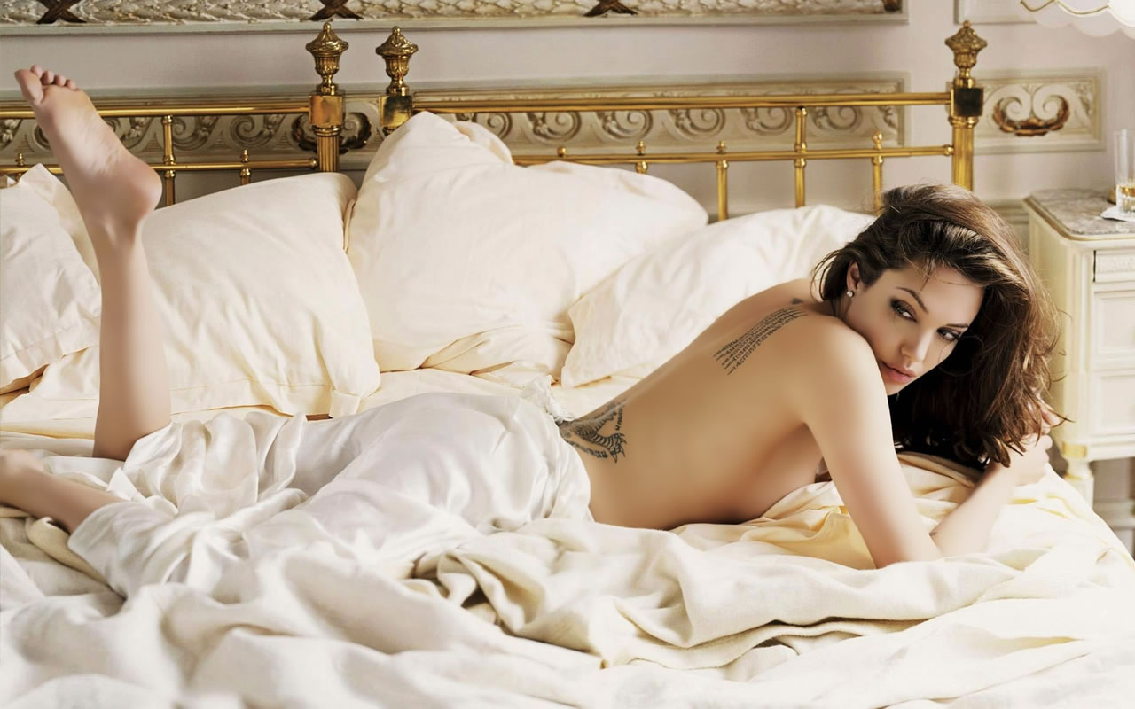 Angelina Jolie Bed