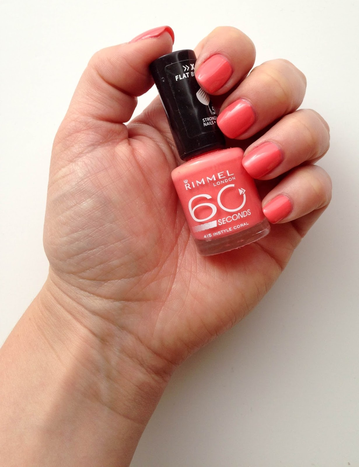 NOTD: Rimmel London 60 seconds in Instyle Coral | Wrinkles And Heels