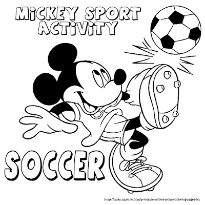 Mickey mouse sport coloring pages