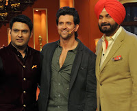 Hrithik Roshan On The Sets Of Comedy Nights With Kapil to promote krrish 3