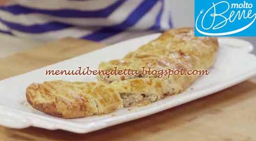 Strudel ricotta e salsiccia ricetta Parodi per Molto Bene su Real Time